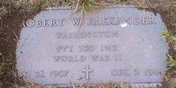 Pvt Robert W Alexander