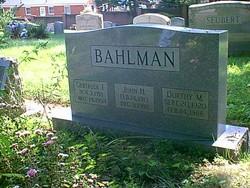 "Dorthy Mae ""Dot"" <I>Spence</I> Bahlman"