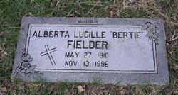 "Alberta Lucille ""Bertie"" <I>Redus</I> Fielder"