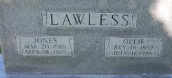 """Lemuel Jones """"Jones"""" Lawless"""