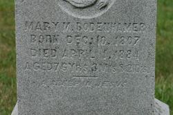 Mary M. <I>Sink</I> Bodenhamer