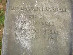 May Hamilton <I>Mannen</I> Lansdale