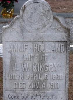 Annie R. <I>Holland</I> Kingry