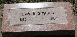 Eva B <I>Whitney</I> Snyder