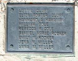 Eliza Arnitte <I>Foster</I> Cluff
