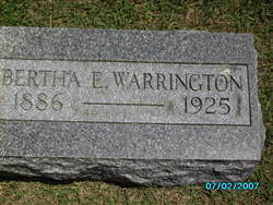 Bertha E. <I>Savage</I> Warrington