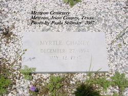 Myrtle Matilda <I>McFall</I> Chaney