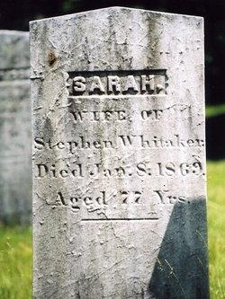 Sarah <I>Dimmick</I> Whitaker