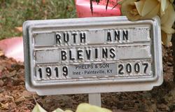 Ruth Ann <I>Dixon</I> Blevins