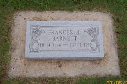 Frances Juanita <I>Cooley</I> Barnett