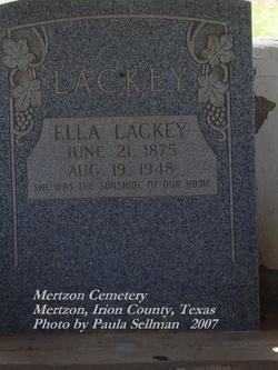 Ella <I>Rogers</I> Lackey