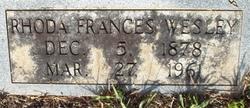 """Rhoda Frances """"Fannie"""" <I>Wesley</I> Austin"""