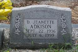 Dolly Jeanette <I>Weeks</I> Adkison