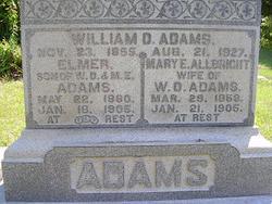 Mary Elizabeth <I>Allbright</I> Adams