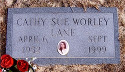 Cathy Sue <I>Worley</I> Lane