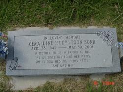 """Geraldine """"Judy"""" <I>Collins</I> Bond"""