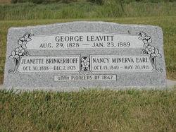 Jeanette <I>Brinkerhoff</I> Leavitt