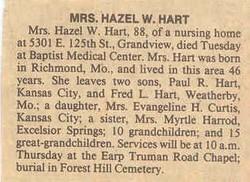 Hazel <I>Wood</I> Hart