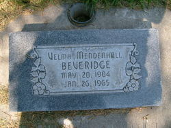 Velma <I>Mendenhall</I> Beveridge