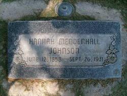Hannah Matilda <I>Mendenhall</I> Johnson