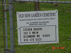 Old New Garden Primitive Baptist Cemetery