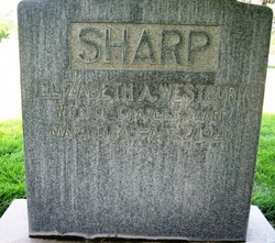 Elizabeth A <I>Westbury</I> Sharp