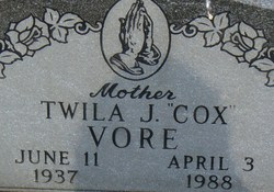 Twila J <I>Cox</I> Vore