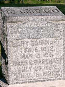 Mary E <I>Cloud</I> Barnhart