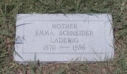 Emma <I>Schneider</I> Ladewig