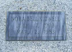 Nora Bell <I>Smith</I> Kidwell
