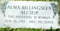 Alma <I>Billingsley</I> Allsup