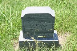 "Martha Jane ""Mattie"" <I>Underwood</I> Johnson"