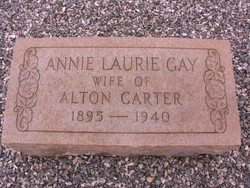 Annie Laurie <I>Gay</I> Carter
