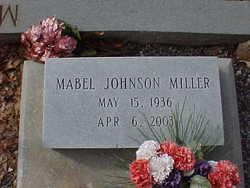 Mabel <I>Johnson</I> Miller