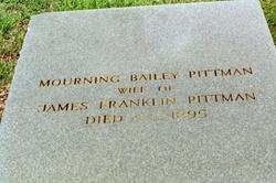 Mourning Martha <I>Bailey</I> Pittman