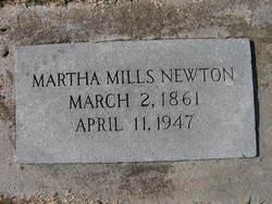 Martha <I>Mills</I> Newton