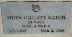 Edith <I>Collett</I> Hatch