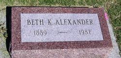 Beth K Alexander