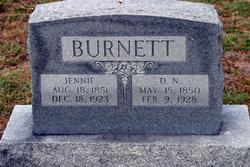 "Jennie ""Jane"" <I>Ferguson</I> Burnett"