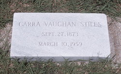 Carra Isabel <I>Vaughan</I> Stiles