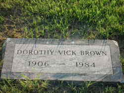Dorothy Frances <I>Vick</I> Brown