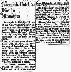 Jeremiah Ricie Hatch