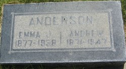 Emma Josephine <I>Martinson</I> Anderson