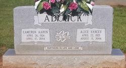 Alice <I>Yancey</I> Adcock