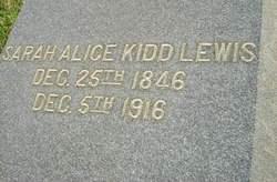 Sarah Alice <I>Kidd</I> Lewis