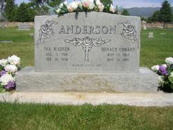 Ina <I>Madsen</I> Anderson
