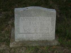 Monnie Viola Mitchell <I>Weddle Crabtree</I> Baker