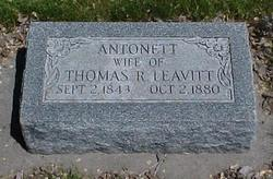 Antonett Phelps <I>Davenport</I> Leavitt