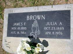 Julia A. <I>Vance</I> Brown