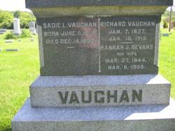 Hannah J. <I>Bevans</I> Vaughan